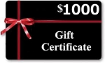 Gift Certificates $1000 Value