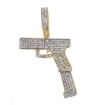 Mens Diamond Cross Pendant Natural 0.5 Carats Diamond Solid 10Kt Yellow Gold Hip Hop Pendant 37.50Mm