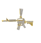 Cross Pendant Natural 0.93 Carats Diamond Solid 14Kt White Gold Hip Hop Pendant  2 X 1.41 Inch