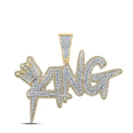 King Hip Hop Pendant Natural Round 2.37 Carats Diamond Solid 10Kt Yellow Gold Charm Pendant