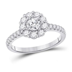 Gold Engagement Rings Natural Round 0.4 Carats Diamond Solid 14Kt White Gold