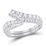 Round Engagement Rings Natural  0.66 Carats Diamond Solid 14Kt White Gold