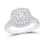 Round Diamond Engagement Rings Natural  0.51 Carats Diamond Solid 14Kt White Gold