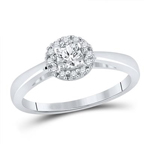 Round Diamond Engagement Rings Natural  0.25 Carats Diamond Solid 10Kt White Gold