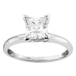 Princes Engagement Rings Natural  0.24 Carats Diamond Solid 14Kt White Gold