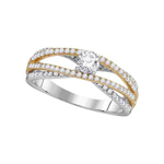 Gold Engagement Rings Natural Round/Round 0.24 Carats Diamond Solid 14Kt Rose Gold
