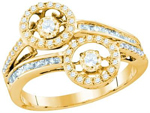 Gold Engagement Rings Natural Round 0.31 Carats Diamond Solid 10Kt Yellow Gold