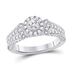 Gold Engagement Rings Natural Round 0.31 Carats Diamond Solid 14Kt White Gold