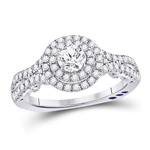 Round Diamond Engagement Rings Natural  0.4 Carats Diamond Solid 14Kt White Gold