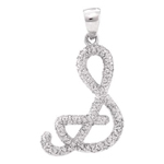 S Gold Initial Pendant Natural Round 0.2 Carats Diamond Solid 10Kt White Gold Hip Hop Pendant
