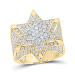 Mens Diamond Ring Natural Round 5.02 Carats Diamond Solid 10Kt Yellow Gold Hip Hop Ring