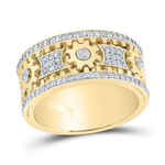 Mens Gold Ring Natural Round 1.75 Carats Diamond Solid 10Kt Yellow Gold Hip Hop Ring