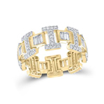 Hip Hop Gold Ring Natural Round 1.93 Carats Diamond Solid 10Kt Yellow Gold Hip Hop Ring