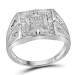 Hip Hop Ring Natural Round 1.5 Carats Diamond Solid 10Kt White Gold Hip Hop Ring