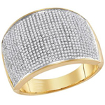 Hip Hop Gold Ring Natural Round 1.01 Carats Diamond Solid 10Kt Yellow Gold Hip Hop Ring