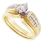 Hip Hop Ring Natural Round/Marquise 0.27 Carats Diamond Solid 14Kt Yellow Gold Hip Hop Ring