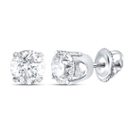 0.25 Carat Diamond Stud Earrings For Women Round Solid Gold Solitaire Earrings
