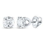 0.75 Carat Diamond Studs Earrings Round Solid Gold Solitaire Earrings