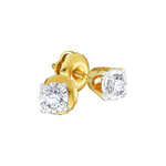 0.25 Carat Diamond Solitaire Earrings Round Solid Gold Solitaire Earrings