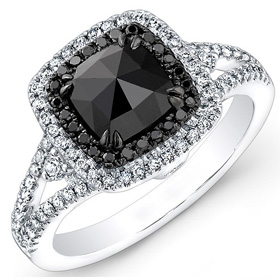Solitaire Black Ring
