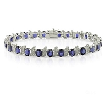 Blue Sapphire Bracelets 15.35 Ct Natural Diamond Solid Gold Natural Certified