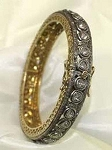 Rose Cut Diamond Bracelet 6.65 Ct Uncut Natural Certified Diamond 925 Sterling Silver Engagement