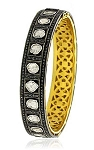 Rose Cut Diamond Bracelet 5.64 Ct Uncut Natural Certified Diamond 925 Sterling Silver Party