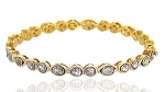Vintage Tennis Bracelet 3 Ct Uncut Natural Certified Diamond 925 Sterling Silver Workwear