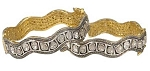 Victorian Bracelet 12 Ct Uncut Natural Certified Diamond 925 Sterling Silver Anniversary