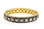 Victorian Bracelet 5.7 Ct Uncut Natural Certified Diamond 925 Sterling Silver Weekend