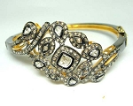 Vintage Bracelets 3.95 Ct Uncut Natural Certified Diamond 925 Sterling Silver Weekend