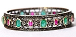 Uncut Diamond Bracelet 4 Ct Uncut Natural Certified Diamond 4 Ct Ruby Emerald 925 Sterling Silver Engagement