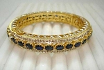 Victorian Bracelet 4.8 Ct Uncut Natural Certified Diamond 6 Ct Blue Sapphire 925 Sterling Silver Office Wear