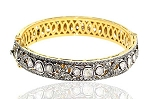 Victorian Bracelet 6.1 Ct Uncut Natural Certified Diamond 925 Sterling Silver Wedding