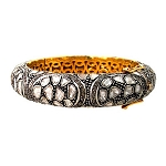 Art Deco Bracelet 6.5 Ct Uncut Natural Certified Diamond 925 Sterling Silver Weekend