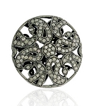 Antique Beads 1.50 Ct Uncut Natural Certified Diamond 925 Sterling Silver Festive