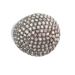 Pave Diamond Beads 1.5 Ct Uncut Natural Certified Diamond 925 Sterling Silver Engagement