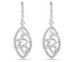 Diamond Drop Earrings 2.85 Ct Untreated Natural Certified Solid Gold