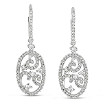 Drop Dangle Earrings 2.8 Ct Diamond Natural Certified Solid White Gold