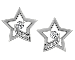 Diamond Earrings Studs 0.32 Ct Untreated Natural Certified Solid Gold
