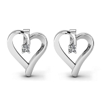 Gold Earrings 0.2 Ct Diamond Anniversary Wedding