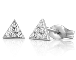 Gold Diamond Earrings 0.25 Ct Anniversary Natural Certified Solid Gold