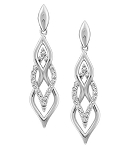 Designer Earrings 1 Ct Diamond  Natural Certified Solid White Gold