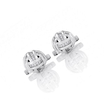 0.35 Ct Natural Untreated Diamond Solid Gold Certified Cufflink