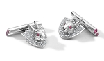 1.52 Ct Natural Untreated Diamond Ruby Solid Gold Certified Cufflink