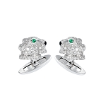 1.1 Ct Natural Untreated Diamond Emerald Solid Gold Certified Cufflink