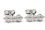 1.05 Ct Natural Untreated Diamond Solid Gold Certified Cufflink