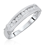 0.5 Ct Natural Untreated Diamond Solid Gold Men'S Ring Certified