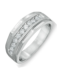 0.77 Ct Natural Untreated Diamond Solid Gold Men'S Ring Certified
