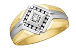 0.7 Ct Natural Untreated Diamond Solid Gold Men'S Ring Certified